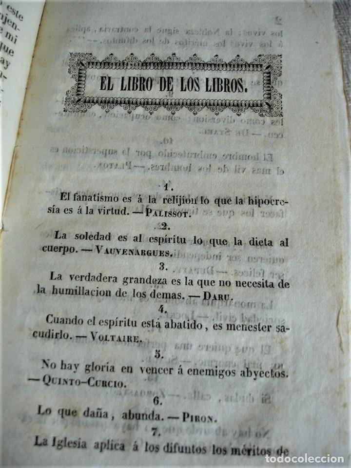 Libros antiguos: El libro de los libros o ramillete de máximas - Foto 4 - 243921940