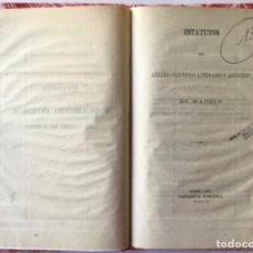 Libros antiguos: ESTATUTOS DEL ATENEO CIENTÍFICO, LITERARIO Y ARTÍSTICO DE MADRID. 1867.. Lote 243992205