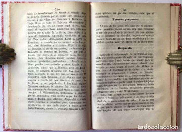 Libros antiguos: INFORME DEL EXCMO. SR. D. FERMIN CABALLERO, SOBRE LA LINEA DEL ESTE DEL PLAN GENERAL DE FERRO-... - Foto 2 - 243996170