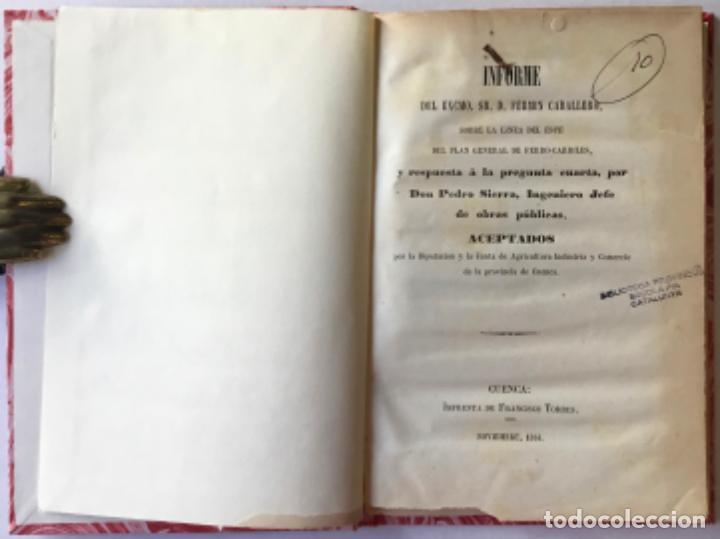 INFORME DEL EXCMO. SR. D. FERMIN CABALLERO, SOBRE LA LINEA DEL ESTE DEL PLAN GENERAL DE FERRO-... (Libros Antiguos, Raros y Curiosos - Ciencias, Manuales y Oficios - Otros)