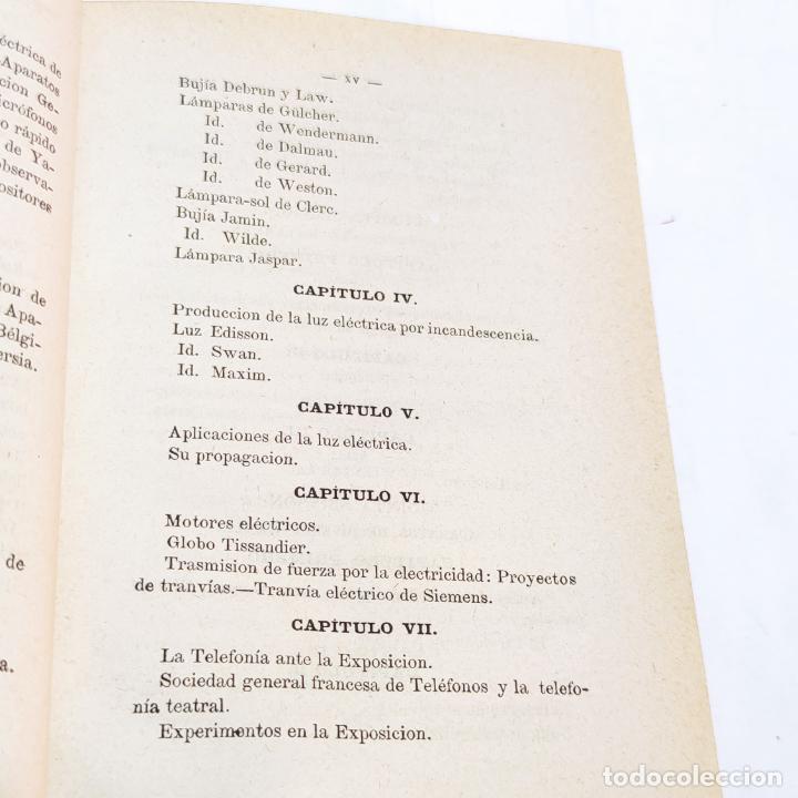 Libros antiguos: La exposición internacional de la electricidad y congreso de electricistas. Eduardo Vicenti. 1882. - Foto 6 - 244000940