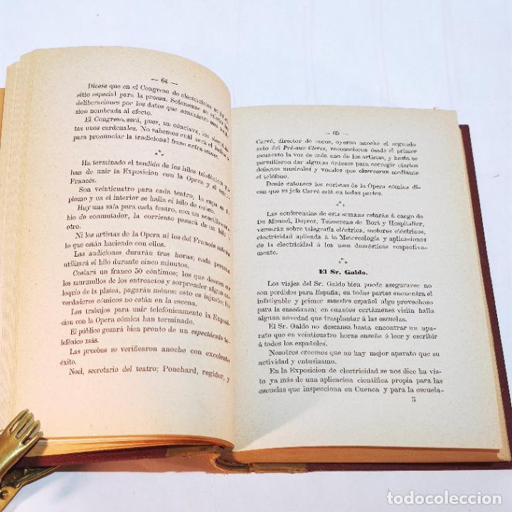 Libros antiguos: La exposición internacional de la electricidad y congreso de electricistas. Eduardo Vicenti. 1882. - Foto 12 - 244000940