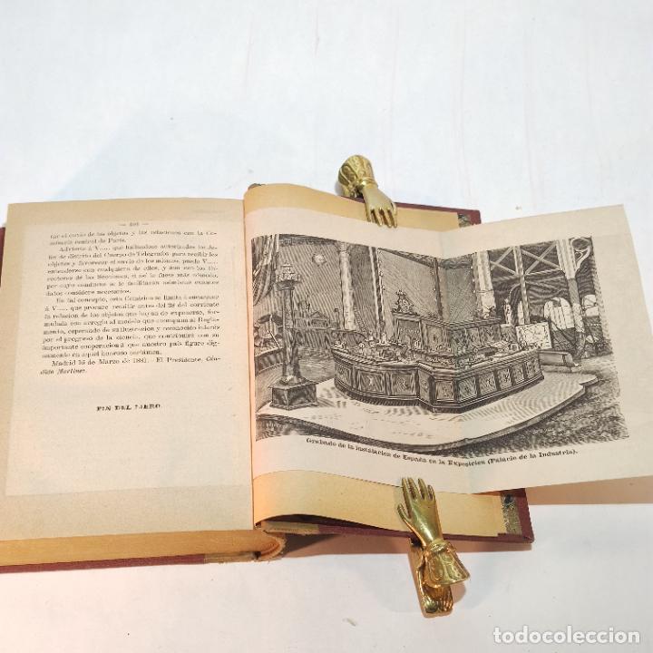 Libros antiguos: La exposición internacional de la electricidad y congreso de electricistas. Eduardo Vicenti. 1882. - Foto 13 - 244000940