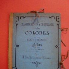 Libros antiguos: CLASIFICACION Y CONTRASTE D LOS COLORES SEGUN CHEVREUL ATLAS 1ª Y 2ª MEMORIA VALLHONESTA 1873. Lote 244437735