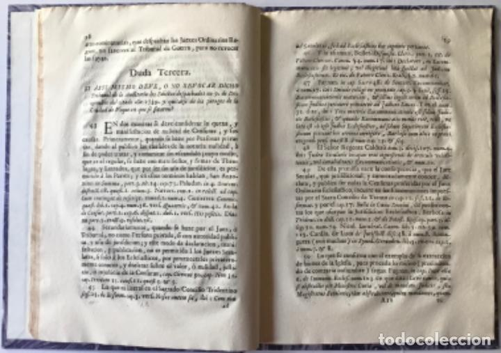 Libros antiguos: POR LA CURIA ORDINARIA ECLESIASTICA DE LA CIUDAD DE VIQUE, EN RESPUESTA A LAS DUDAS, QUE EN EL... - Foto 3 - 244480035