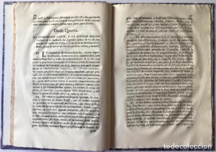 Libros antiguos: POR LA CURIA ORDINARIA ECLESIASTICA DE LA CIUDAD DE VIQUE, EN RESPUESTA A LAS DUDAS, QUE EN EL... - Foto 4 - 244480035