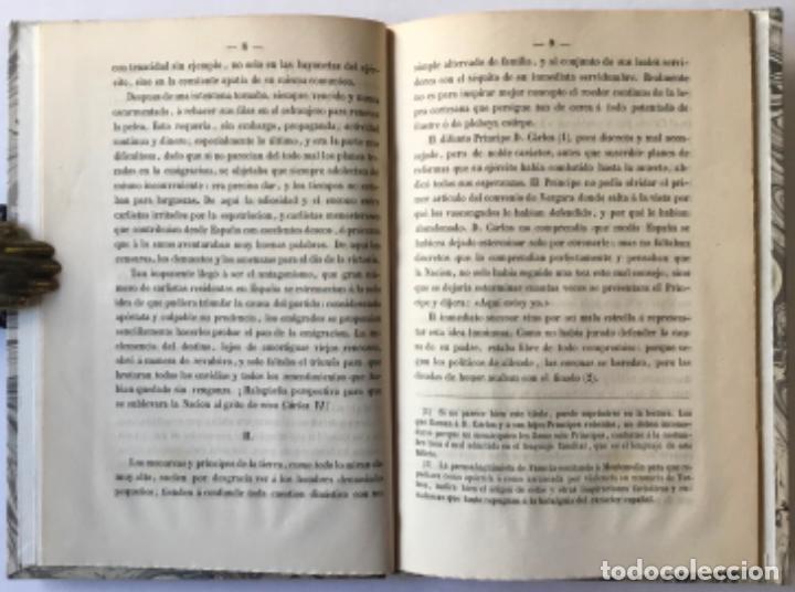 Libros antiguos: EL TRONO Y LOS CARLISTAS. Consideraciones sobre una cuestion de actualidad. - INDALECIO CASO, José. - Foto 2 - 244484490