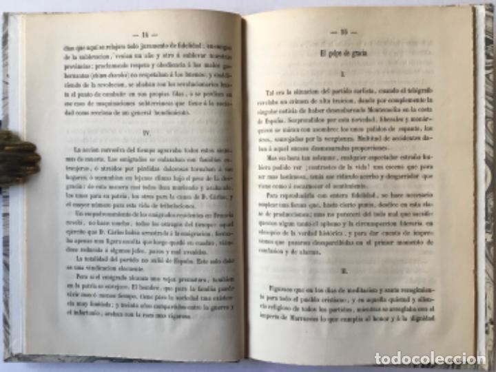 Libros antiguos: EL TRONO Y LOS CARLISTAS. Consideraciones sobre una cuestion de actualidad. - INDALECIO CASO, José. - Foto 3 - 244484490