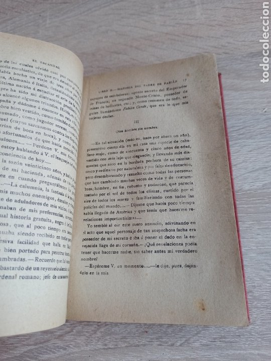 Libros antiguos: Novela El Escándalo por P. Pedro A. De Alarcón Vigésimoquinta Edición 1920 - Foto 5 - 244708950