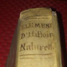 Libros antiguos: ÉLEMÉNS D'HISTOIRE NATURELLE - A. L. MILLIN - L'AN III DE LA RÉPUBLIQUE - 1795 - SIGLO XVIII. Lote 244761020