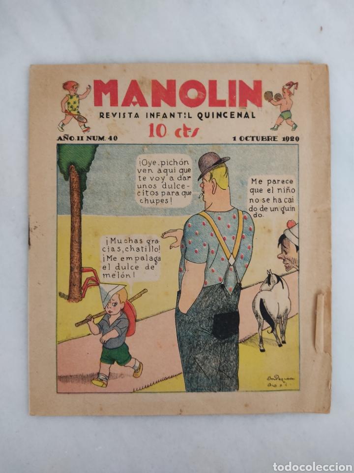 MANOLÍN REVISTA SEMANAL 1929 10CTS (Libros Antiguos, Raros y Curiosos - Literatura Infantil y Juvenil - Otros)