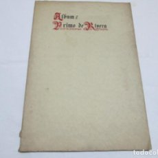 Libros antiguos: ALBUM PRIMO DE RIVERA - SUPLEMENTO ARTISTICO REVISTA EL IMAN - 1926?. Lote 244827245