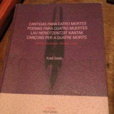 Libros antiguos: CANTIGAS PARA CATRO MORTES..MUY RARO. Lote 244831275