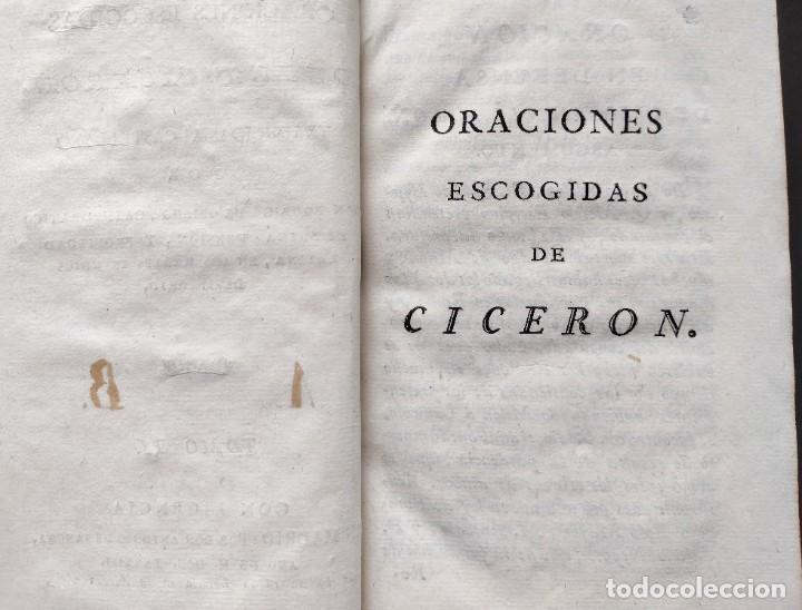 Libros antiguos: CICERÓN. DISCURSOS ORACIONES ESCOGIDAS. LATÍN-ESPAÑOL. 1783, IMPRENTA DE SANCHA - Foto 8 - 244855675