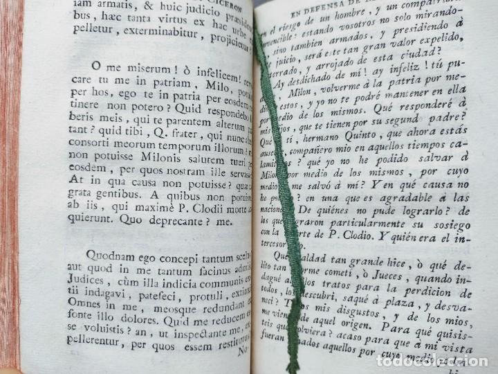 Libros antiguos: CICERÓN. DISCURSOS ORACIONES ESCOGIDAS. LATÍN-ESPAÑOL. 1783, IMPRENTA DE SANCHA - Foto 9 - 244855675