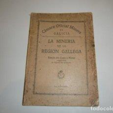 Libros antiguos: LIBRO 1928 LA MINERIA DE LA REGION GALLEGA CAMARA OFICIAL MINERIA GALLEGA RAMON CUETO NOVAL. Lote 244887310