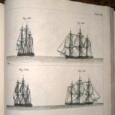 Libros antiguos: ARTE DE APAREJAR Y MANIOBRAS DE LOS BUQUES 2 TOMOS DARCY LEVER MADRID 1859. Lote 244932765