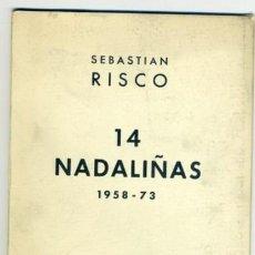 Libros antiguos: 14 NADALIÑAS...SEBASTIAN RISCO. EDICIÒS DO CASTRO. 1973.. Lote 245019940