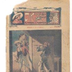 Libros antiguos: FOLLETÍN. DIK NAVARRO. EL TERROR DE LA PRADERA. Nº 52. MORIR CON GLORIA. (AP1/C4). Lote 245050080