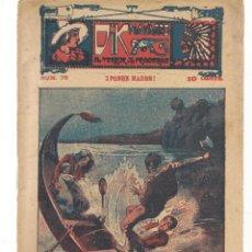 Libros antiguos: FOLLETÍN. DIK NAVARRO. EL TERROR DE LA PRADERA. Nº 76. ¡POBRE MADRE!. (AP1/C4). Lote 245056010