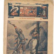 Libros antiguos: FOLLETÍN. DIK NAVARRO. EL TERROR DE LA PRADERA. Nº 77. LA MUJER SACRIFICADA. (AP1/C4). Lote 245056210
