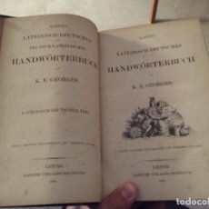 Libros antiguos: GRAN LIBRO 1885 DICIONARIO ALEMÁN LATIN. Lote 245211730