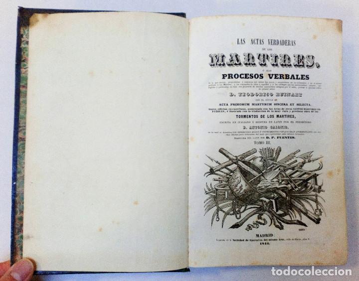 Libros antiguos: LAS ACTAS VERDADERAS DE LOS MÁRTIRES. CON 60 GRABADOS. TOMO III. 1844 - Foto 5 - 245263100
