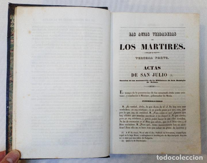 Libros antiguos: LAS ACTAS VERDADERAS DE LOS MÁRTIRES. CON 60 GRABADOS. TOMO III. 1844 - Foto 6 - 245263100