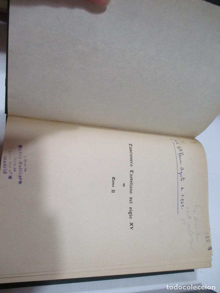 Libros antiguos: FOULCHÉ DELBOSC Cancionero castellano del Siglo XV ( 2 Tomos) W5568 - Foto 4 - 245363305
