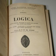 Libros antiguos: LOGICA.- HUGON.- CURSUS PHILOSOPHIAE THOMISTICAE.. Lote 245379375