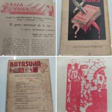 Libros antiguos: BATASUNA REVISTA DE DIVULGACION VASCA Nº1 1941 VASCOS MUY RARA EXILIO GUERRA CIVIL EUZKADI BASQUE. Lote 245383480
