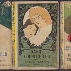 Libros antiguos: DAVID COPPERFIELD. 3 TOMOS - DICKENS, CHARLES - A-NOV-1407. Lote 245454480
