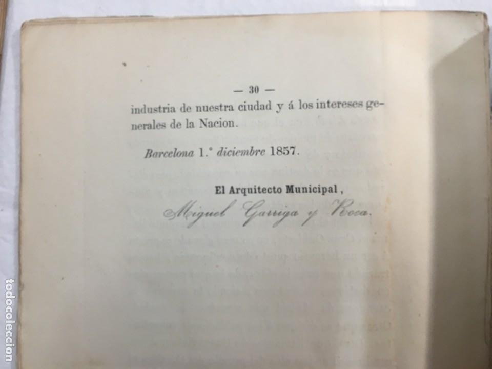 Libros antiguos: Memoria descriptiva del Anti-Proyecto de Ensanche de la Ciudad de Barcelona. Barcelona, 1858. - Foto 2 - 245545845