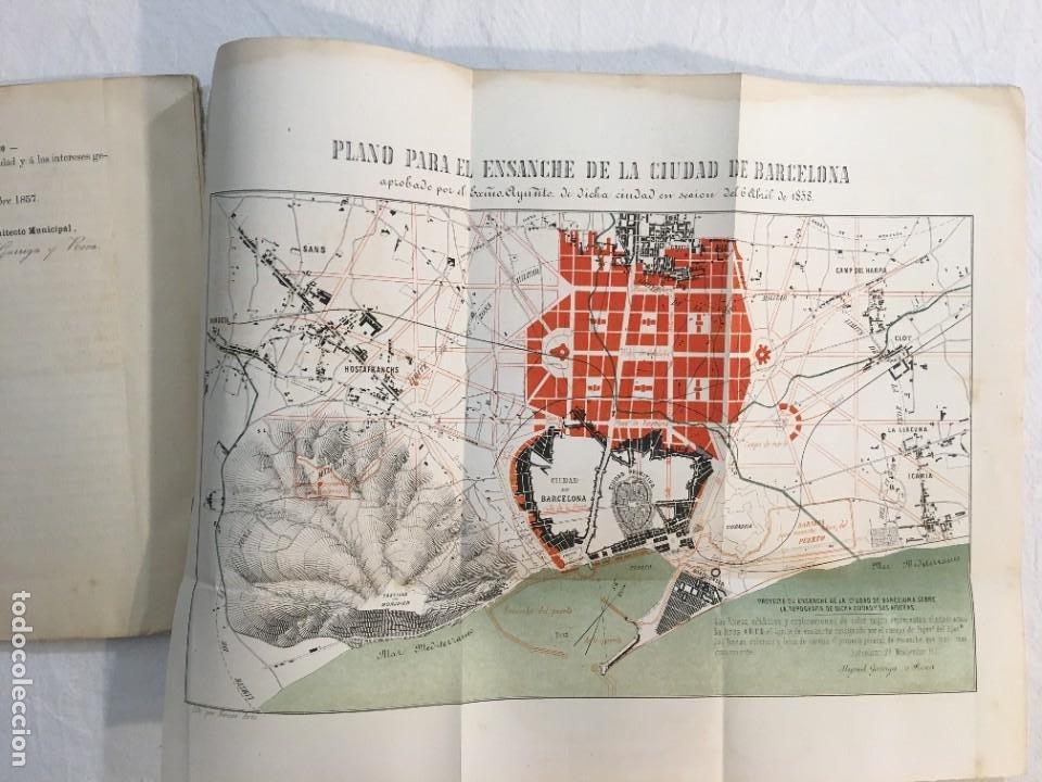 Libros antiguos: Memoria descriptiva del Anti-Proyecto de Ensanche de la Ciudad de Barcelona. Barcelona, 1858. - Foto 3 - 245545845