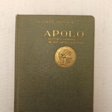 """Libros antiguos: """"APOLO: HISTORIA GENERAL DE LAS ARTES PLÁSTICAS"""" DE SALOMÓN REINACH (1930) EDT. RUIZ HERMANOS. Lote 245631210"""