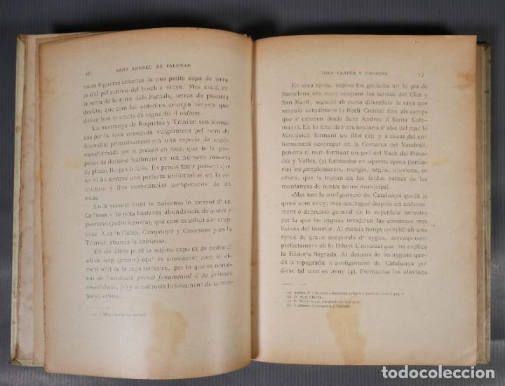 Libros antiguos: Sant Andreu de Palomar-Joan Clapés y Corbera-Tip. Andresense 1900 - Foto 8 - 245640325