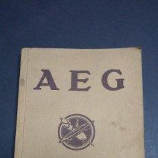 Libros antiguos: AEG LA ELECTRICIDAD EN LA INDUSTRIA TEXTIL, 1924. Lote 246219245