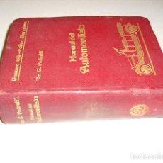 Libros antiguos: 1914 MANUAL DEL PILOTO AVIADOR DR. G. PEDRETTI PRIMERA EDICION UN SOLO EJEMPLAR EN CCPBE. Lote 246602175