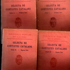 Libros antiguos: SELECTA DE CONTISTES CATALANS - 6 VOLUMS (L'AVENÇ, 1926). Lote 246647800