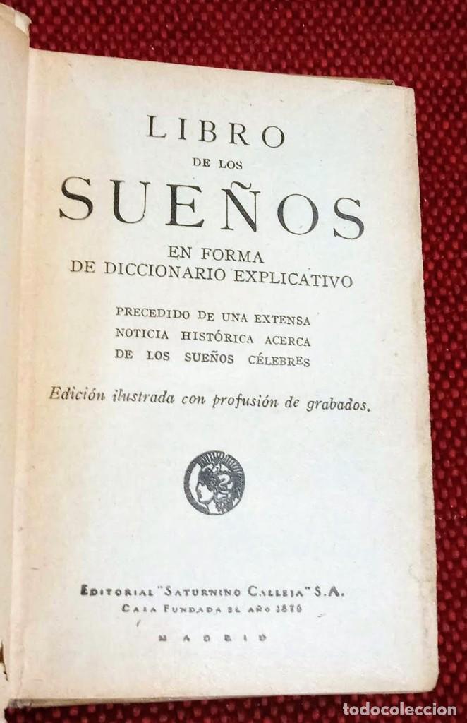 Libros antiguos: EL LIBRO DE LOS SUEÑOS - CALLEJA - BIBLIOTECA POPULAR - GRABADOS - Foto 3 - 246703330