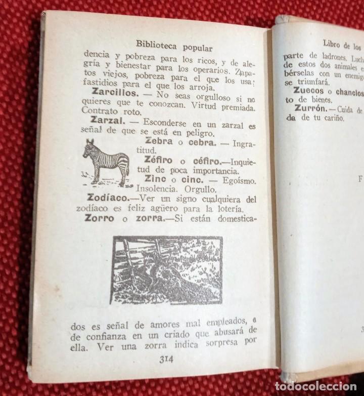 Libros antiguos: EL LIBRO DE LOS SUEÑOS - CALLEJA - BIBLIOTECA POPULAR - GRABADOS - Foto 4 - 246703330