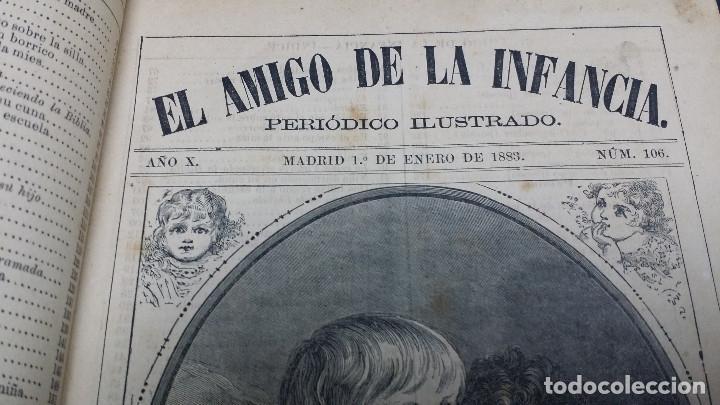 Libros antiguos: El amigo de la infancia 1883, año X. - Foto 5 - 246719050