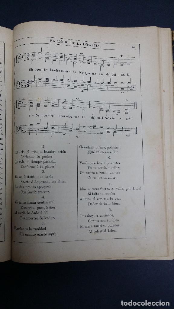 Libros antiguos: El amigo de la infancia 1883, año X. - Foto 7 - 246719050