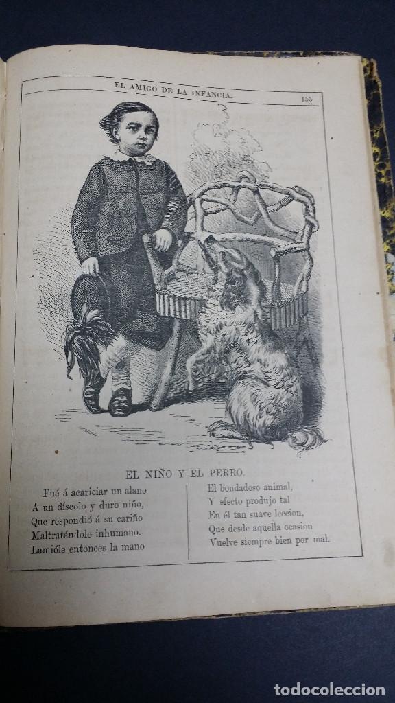 Libros antiguos: El amigo de la infancia 1883, año X. - Foto 8 - 246719050