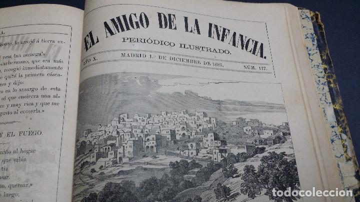 Libros antiguos: El amigo de la infancia 1883, año X. - Foto 9 - 246719050