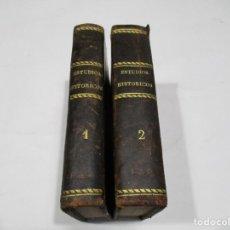 Libros antiguos: VIZCONDE DE CHATEAUBRIAND ESTUDIOS HISTÓRICOS (2 TOMOS) W5783. Lote 247060310