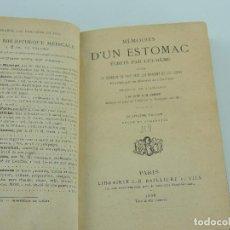 Libri antichi: MEMOIRES D,UN ESTOMAC ECRITS PAR LUI MEME PARIS AÑO 1888. Lote 247337470