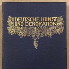 Libros antiguos: DEUTSCHE KUNST UND DEKORATION IX (1901-1902). ANTIGUO LIBRO ARTE Y DECORACIÓN ALEMÁN. Lote 247985320