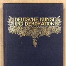 Libros antiguos: DEUTSCHE KUNST UND DEKORATION VII (1900-1901). ANTIGUO LIBRO ARTE Y DECORACIÓN ALEMÁN. Lote 247987140
