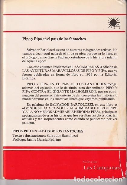 Libros antiguos: SALVADOR BARTOLOZZI - AVENTURAS DE PIPO Y PIPA EN EL PAÍS DE LOS FANTOCHES - Foto 2 - 248027645